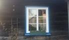pvc prozor na hrastovoj drvenoj kući